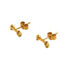 Bone Stud Gold Earrings