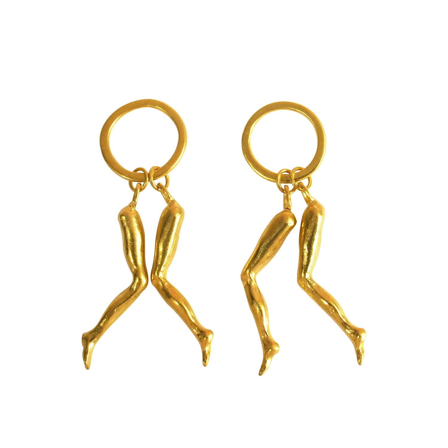 Jack Rabbit Slim's Twist Gold Earrings