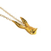Sally Rabbit Mask Gold Necklace pendant detail photo