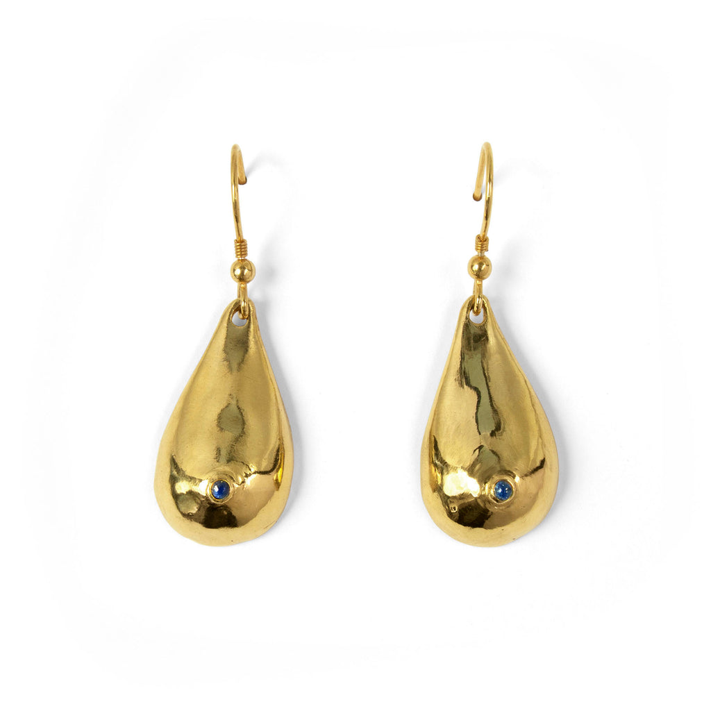 Gold Vermeil + Lapis Boob Earrings