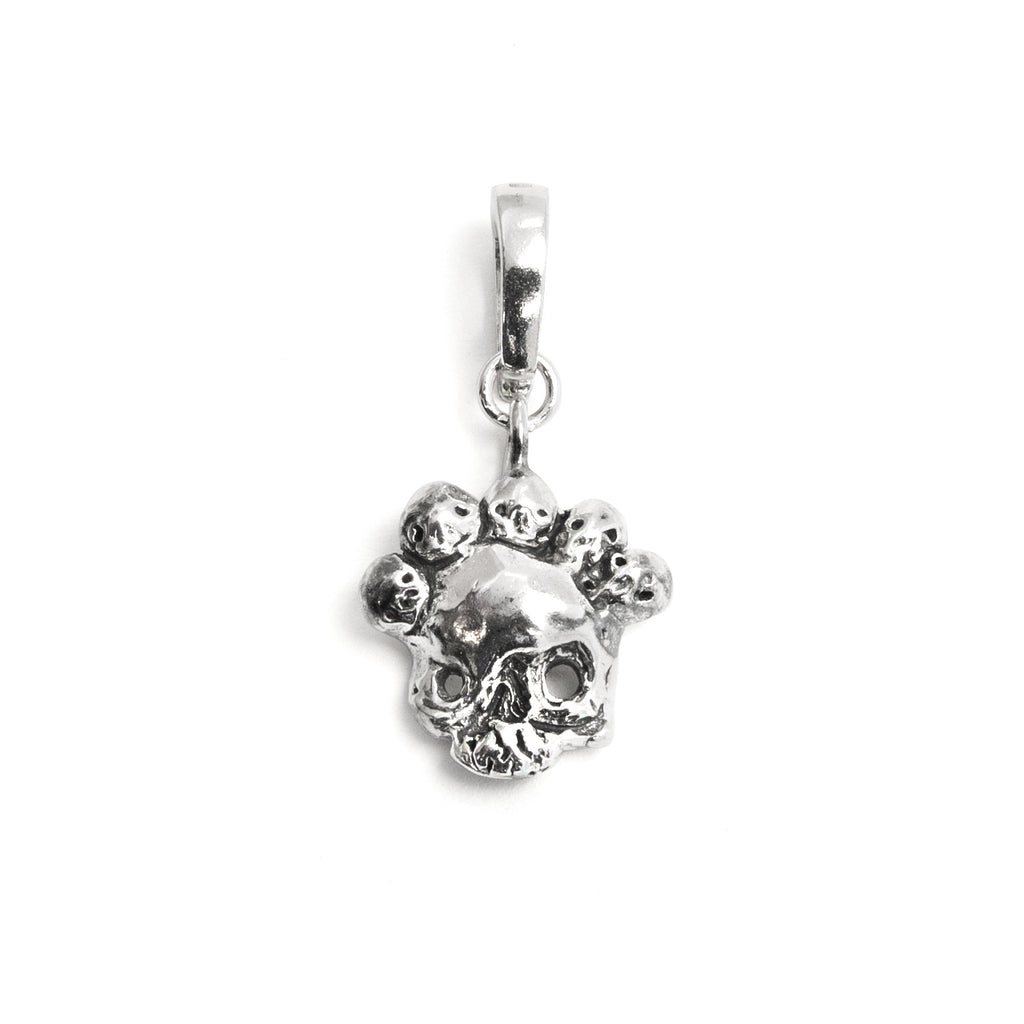 Nameless God Skull Silver Charm