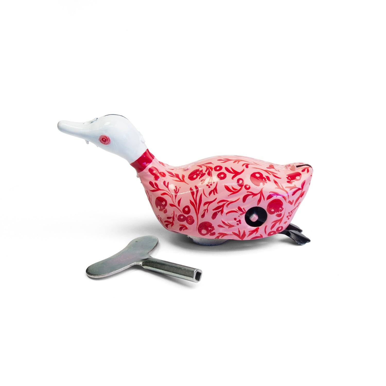 Tinplate wind-up duck