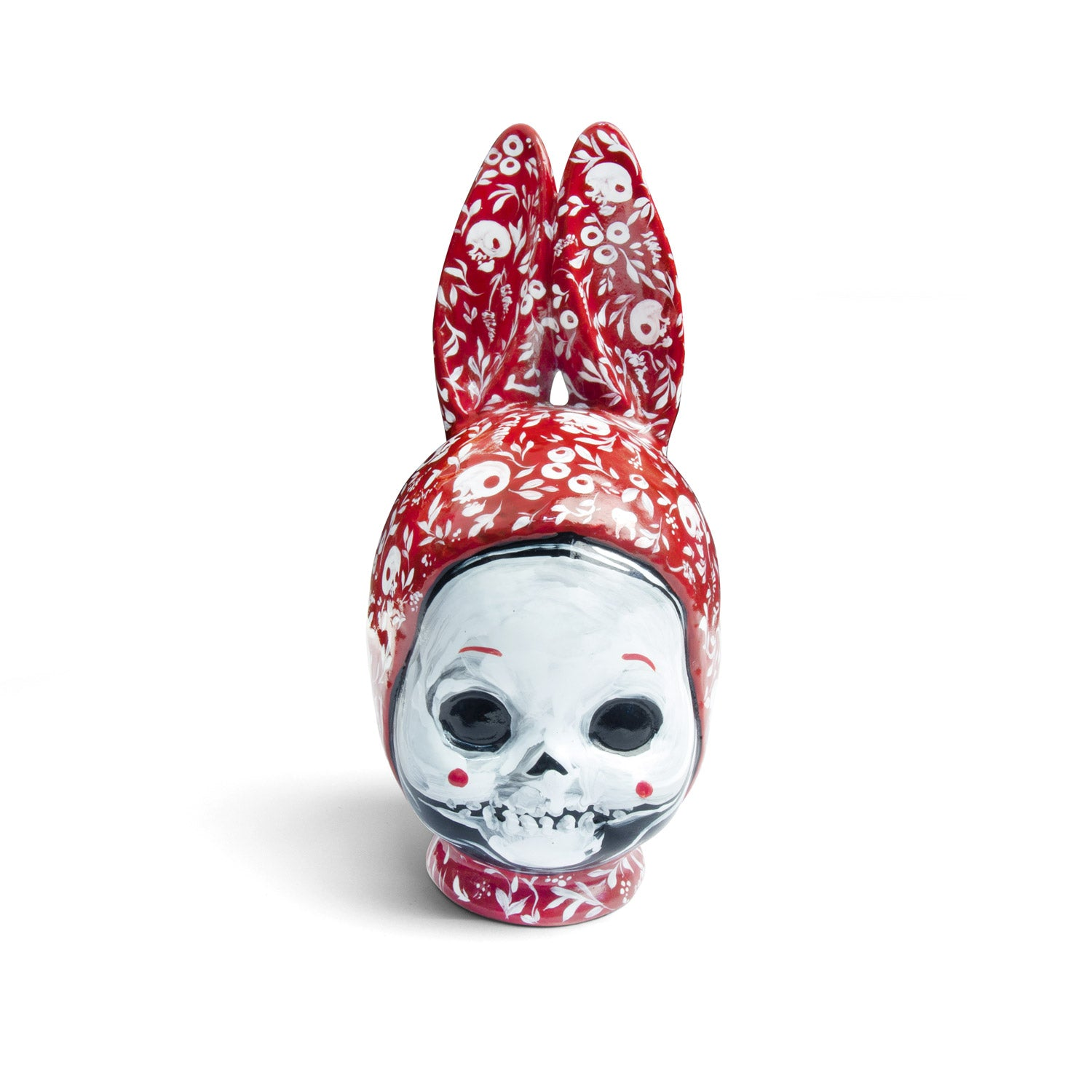 Ceramic kewpie head - red