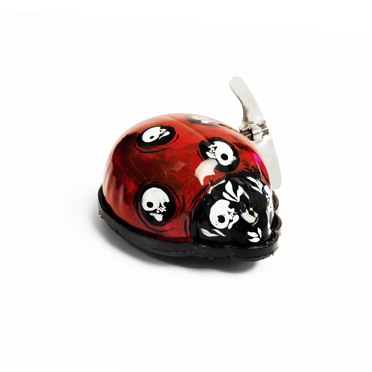 Wind-up tinplate ladybird