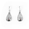 Silver + Ruby Boob Earrings