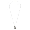 Sally Rabbit Mask Silver Necklace full length with chain
