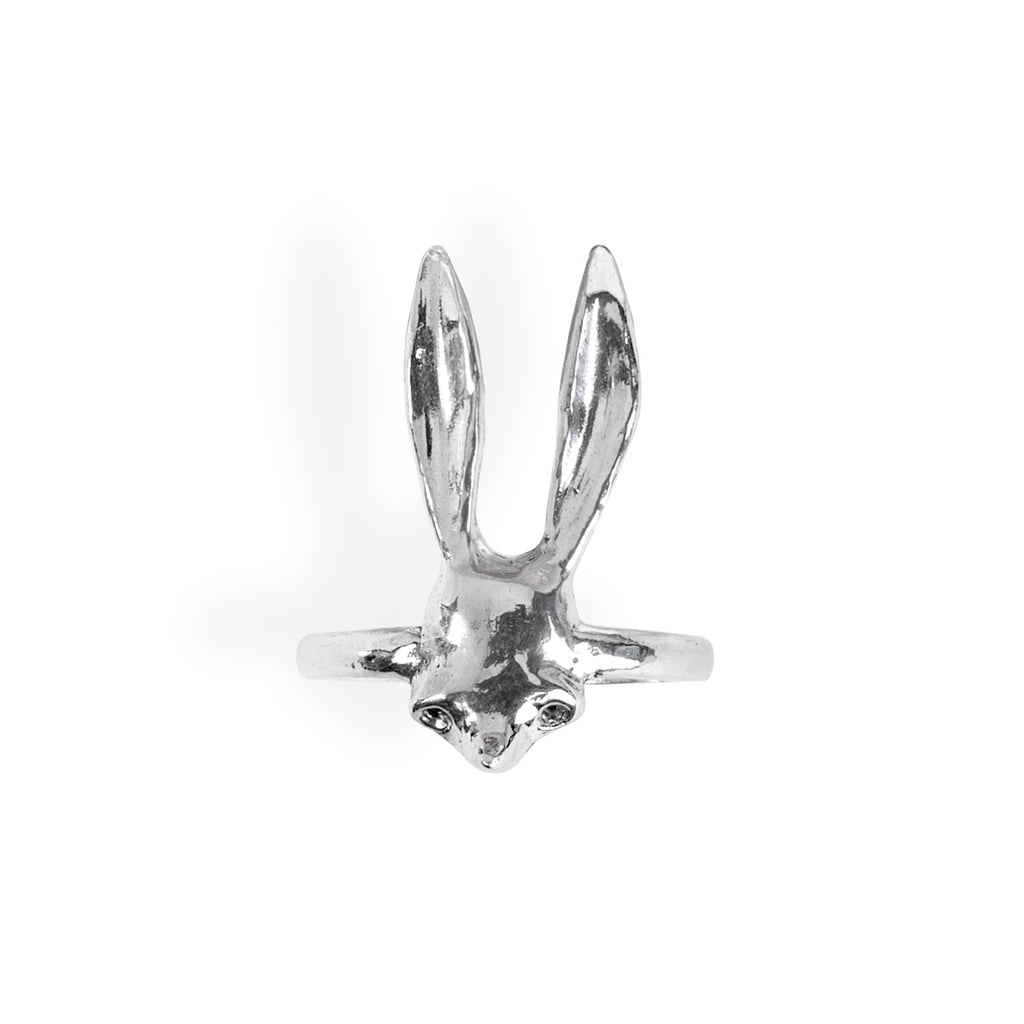 Sally Mask Silver Ring