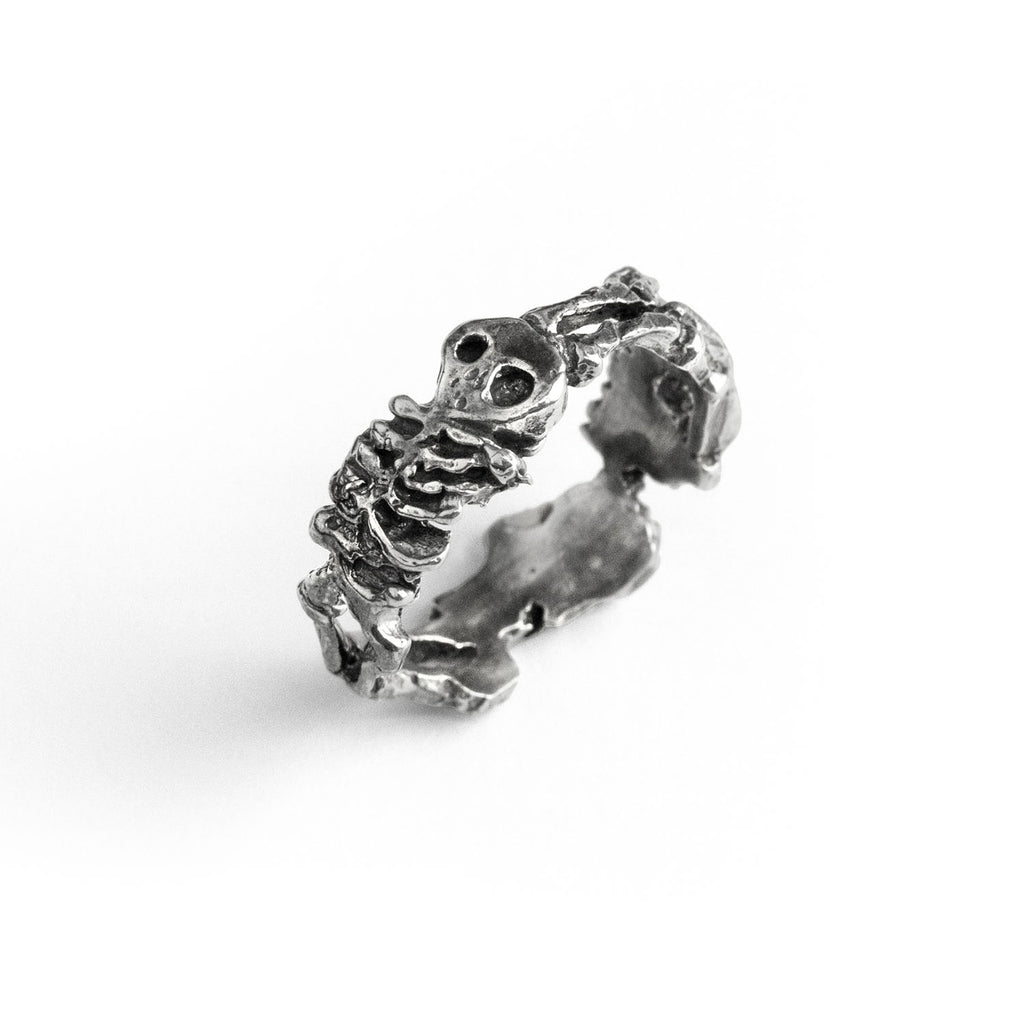 Skeleton Silver Ring