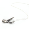 Sally Rabbit Mask Silver Necklace side view