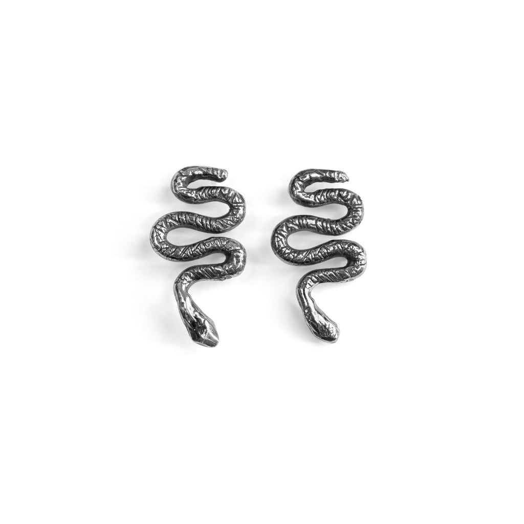 Snake Silver Earrings