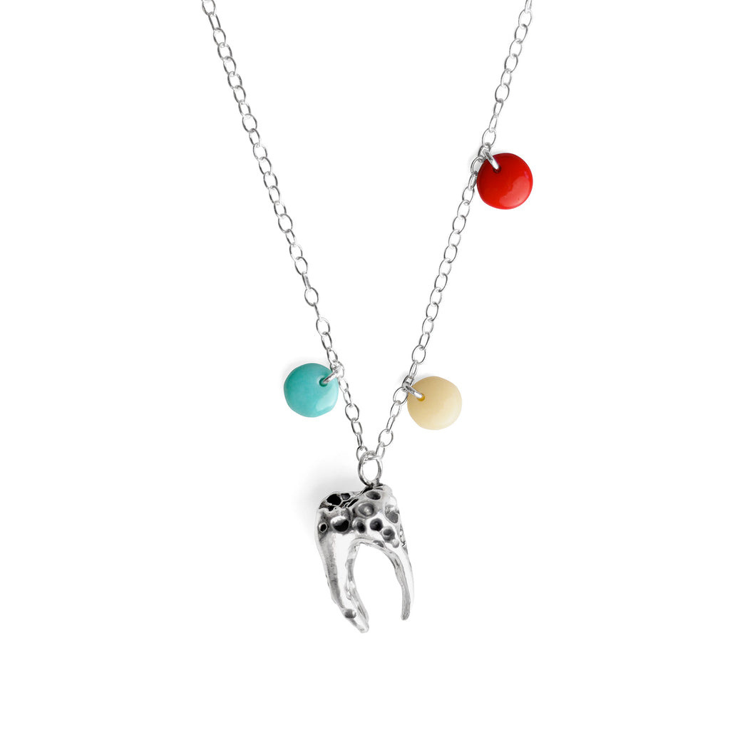 Sweet Tooth Silver Necklace