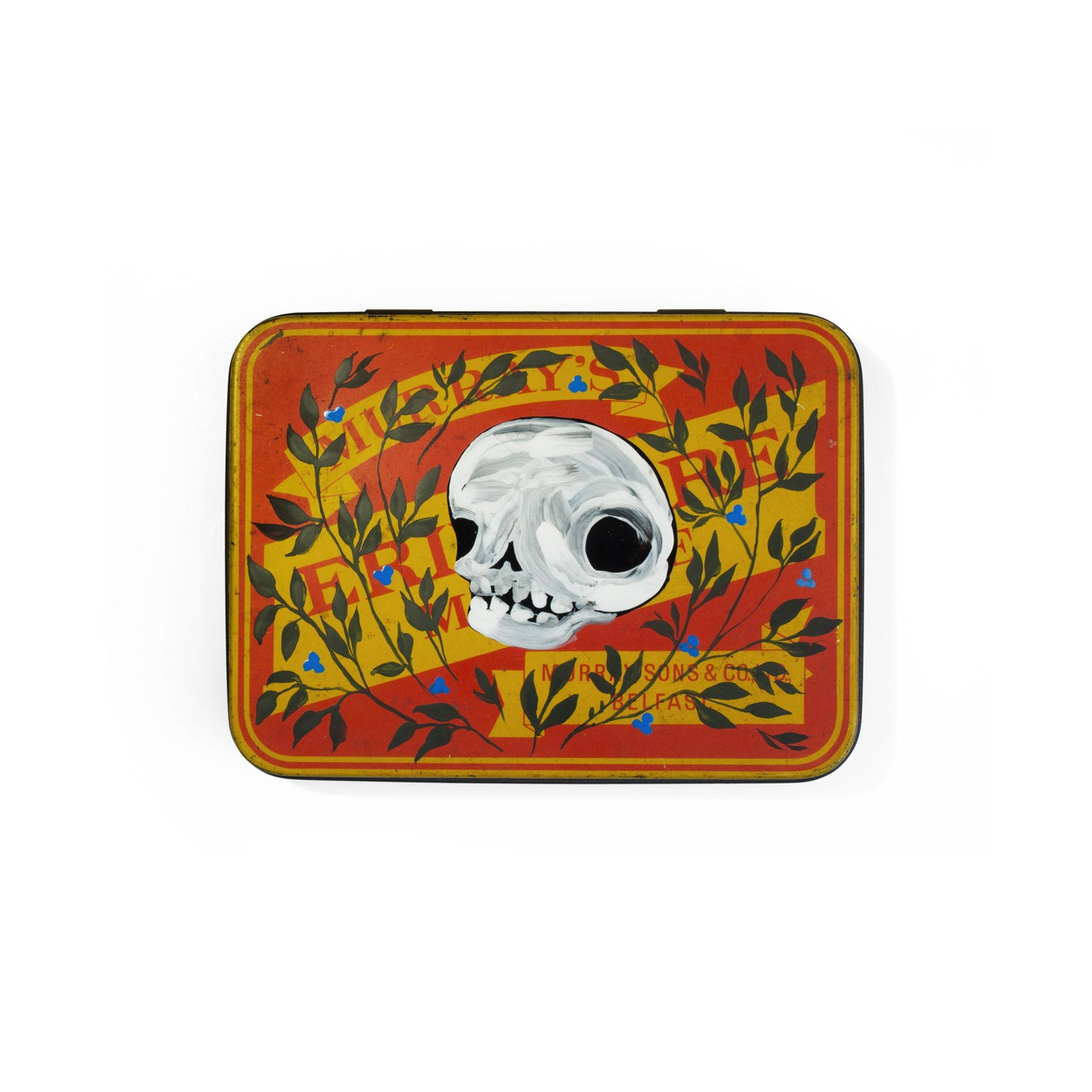 Skull keepsake tin