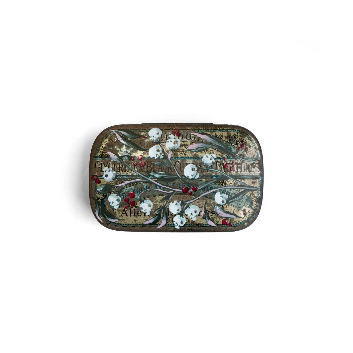 Skull berry tin