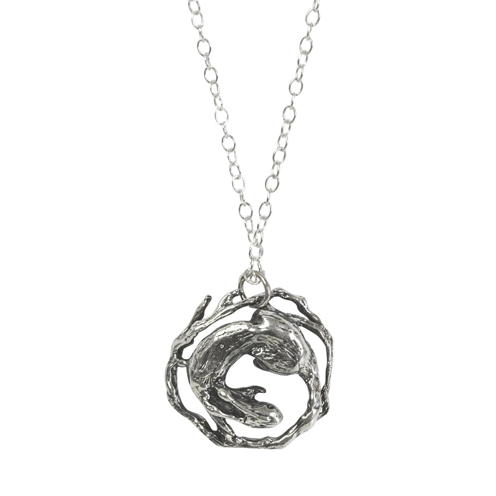 Tree Rabbit Silver Necklace