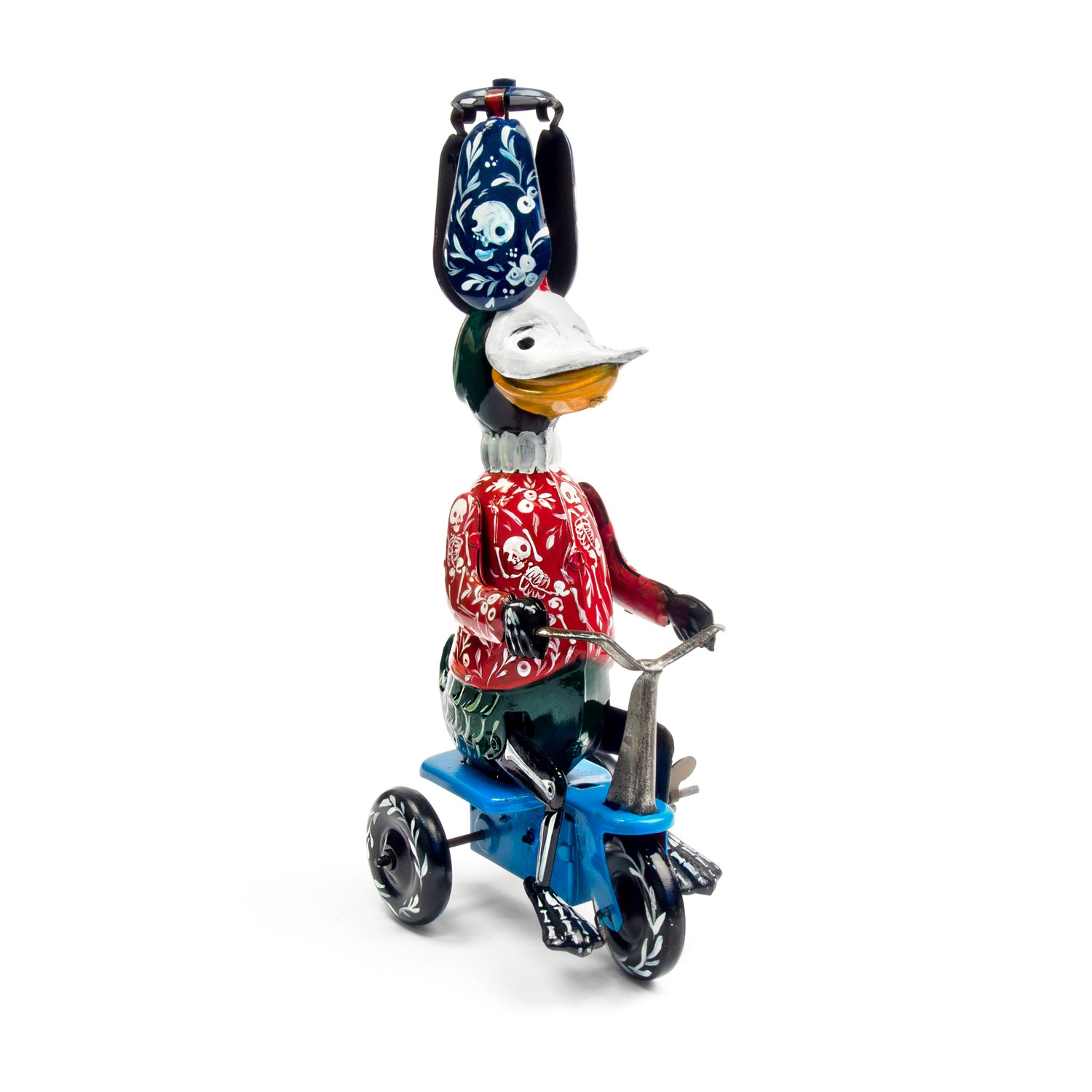 Tinplate clockwork pedalling duck