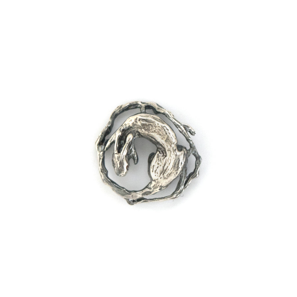 Tree Rabbit Silver Lapel/Tie Stud