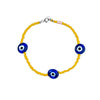 Classic Yellow Evil Eye beaded Bracelet