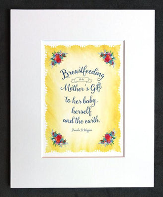 A wonderful gift: today's breastfeeding quote