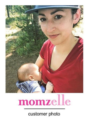Breastfeeding mama in the Christine nursing top