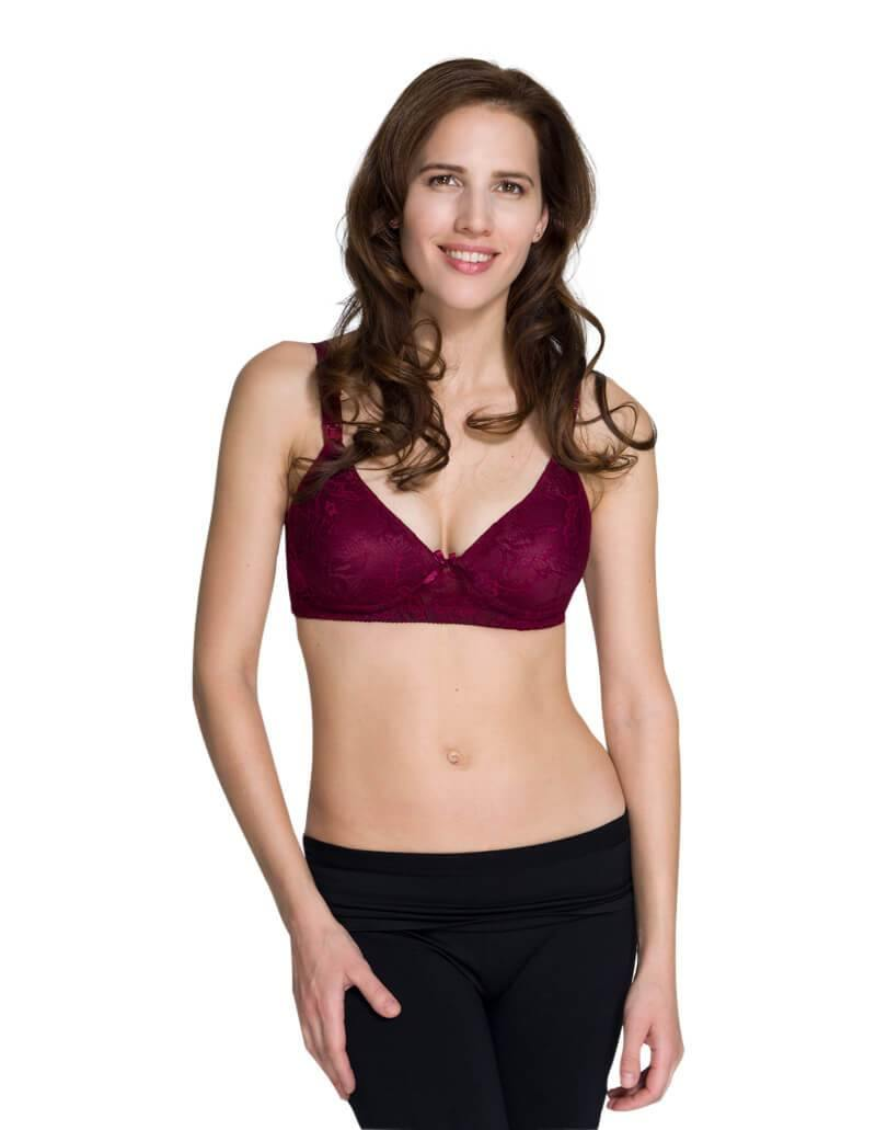Lace nursing bra