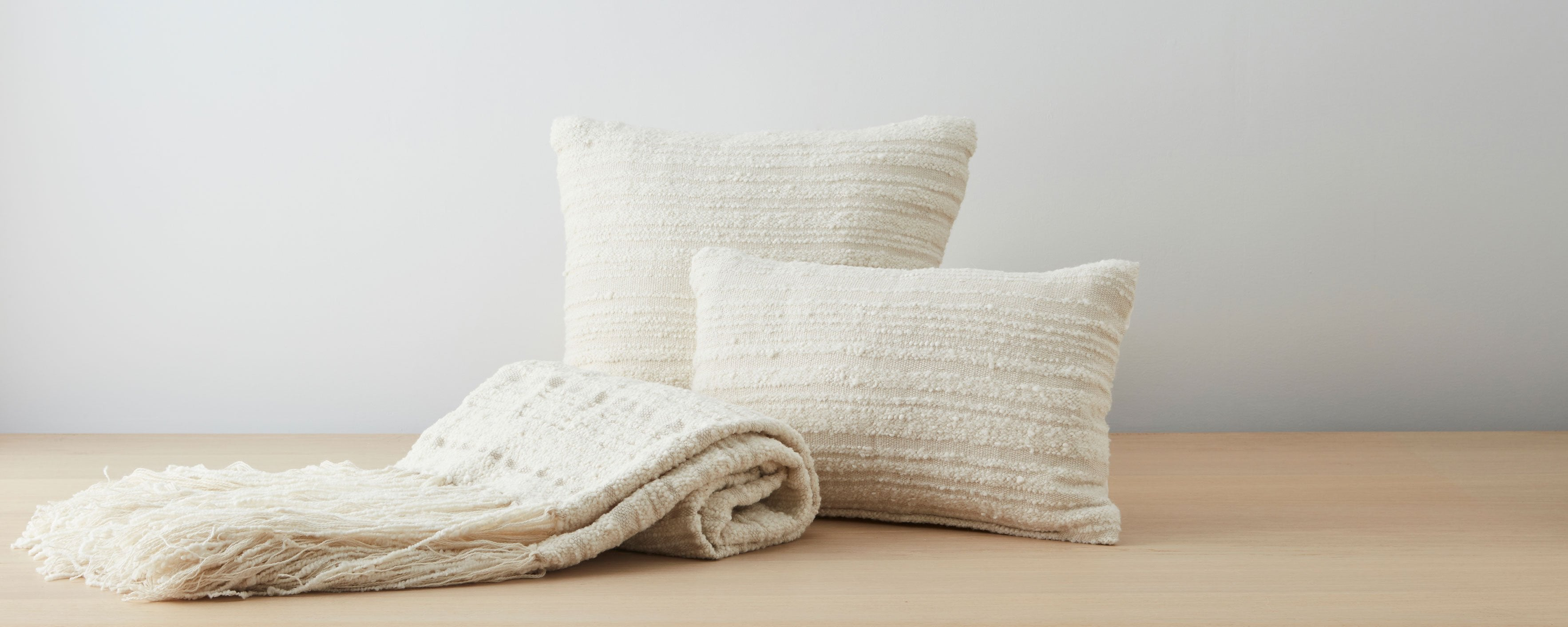 llama boucle pillow collection