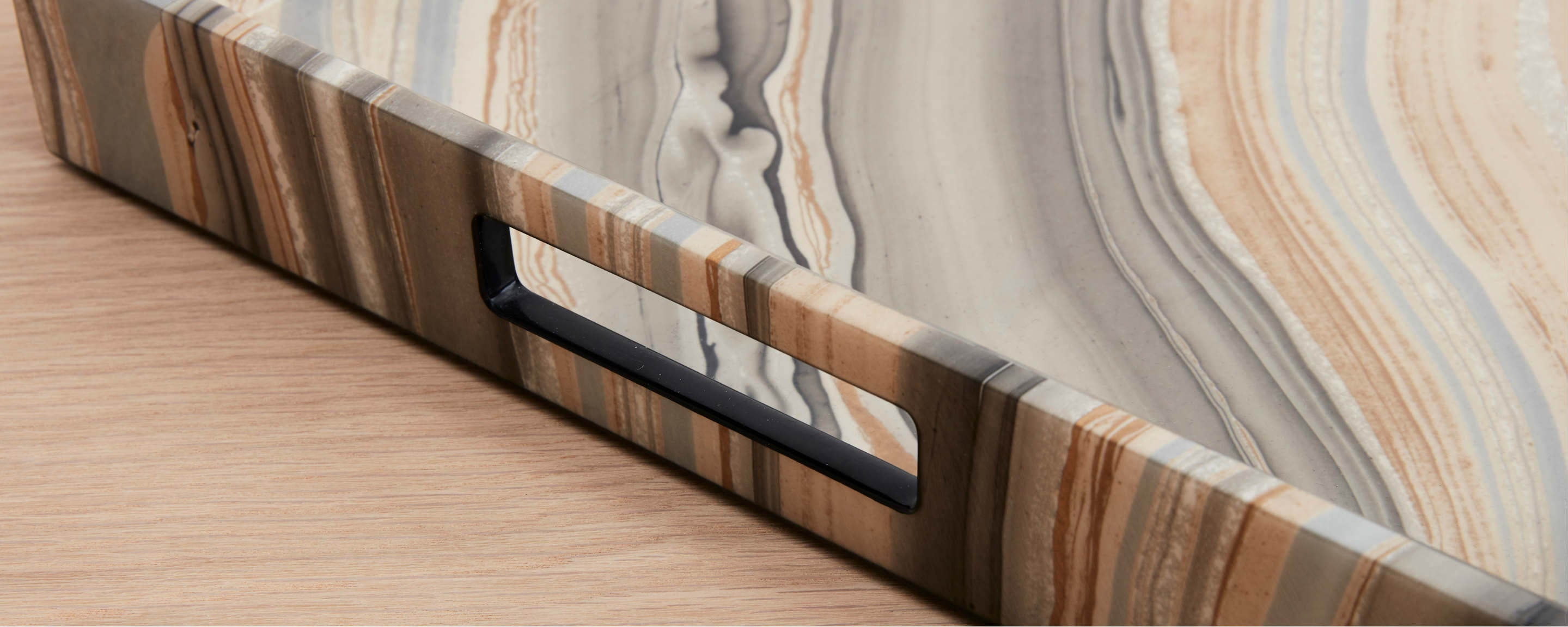 marbleized lacquer trays