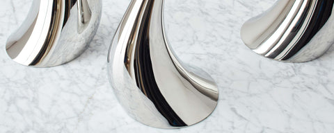 cobra floor candleholders by constantin wortmann for georg jensen