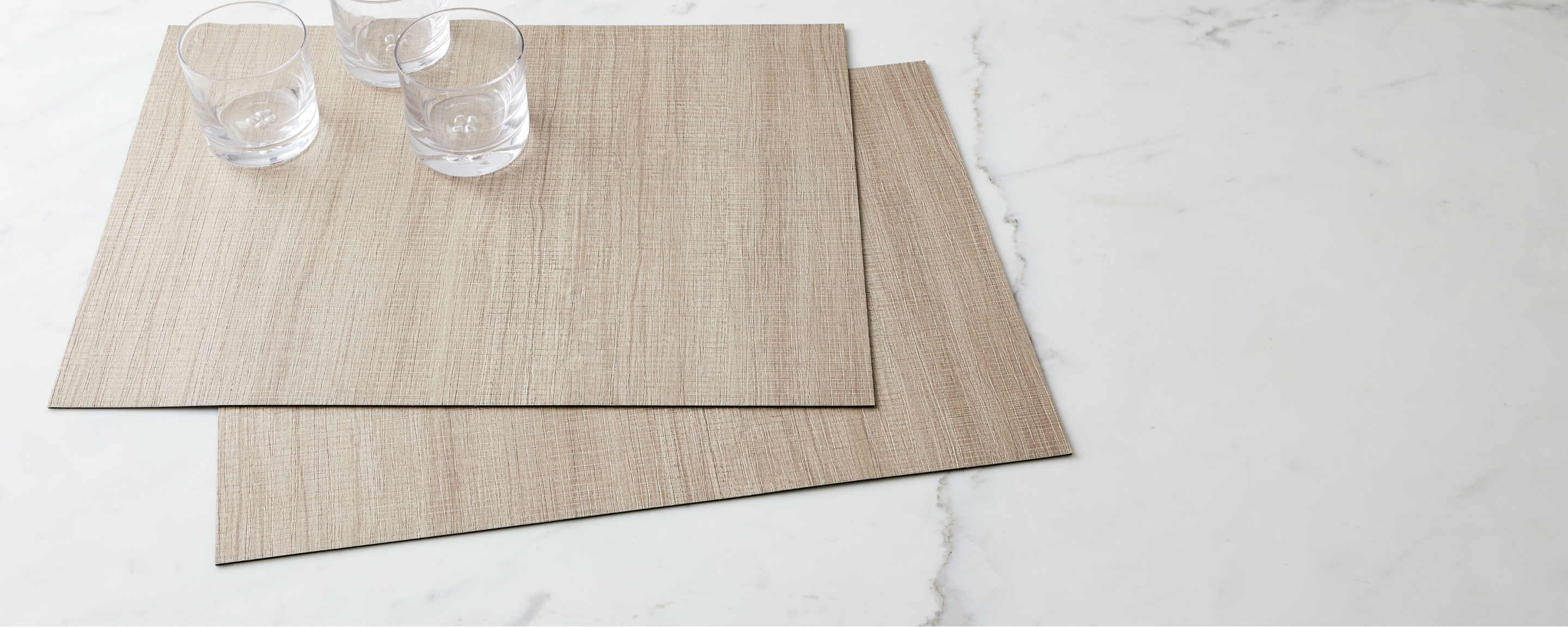textured light driftwood placemat
