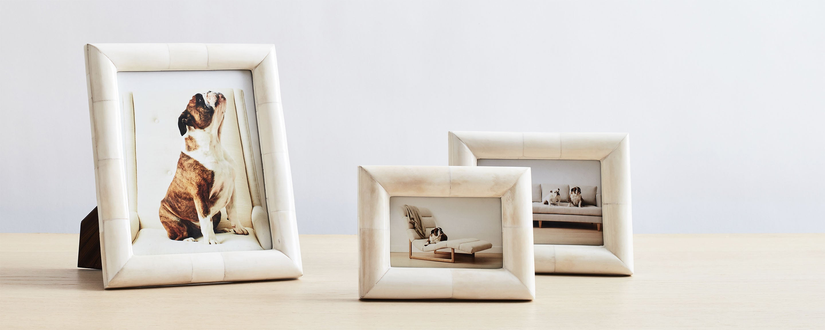 chunky bone picture frames