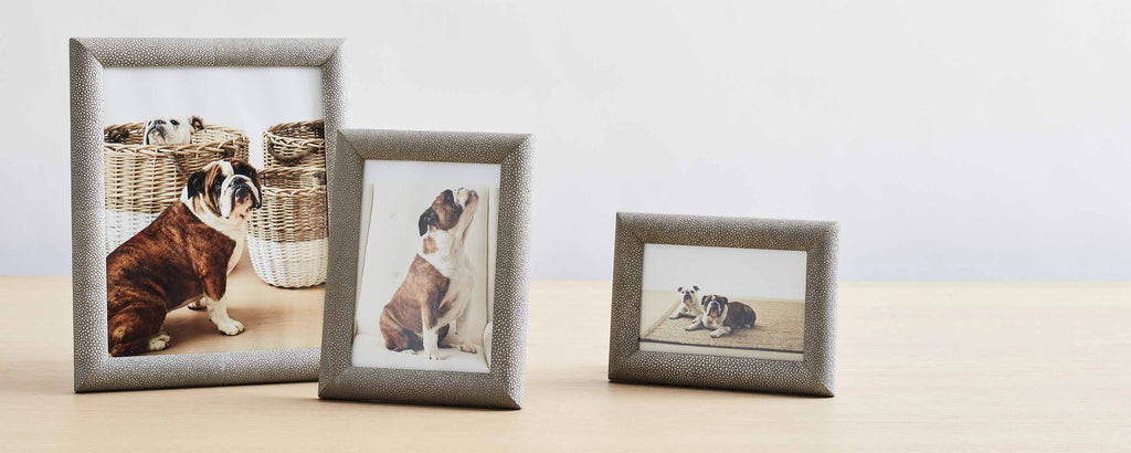 faux shagreen picture frames