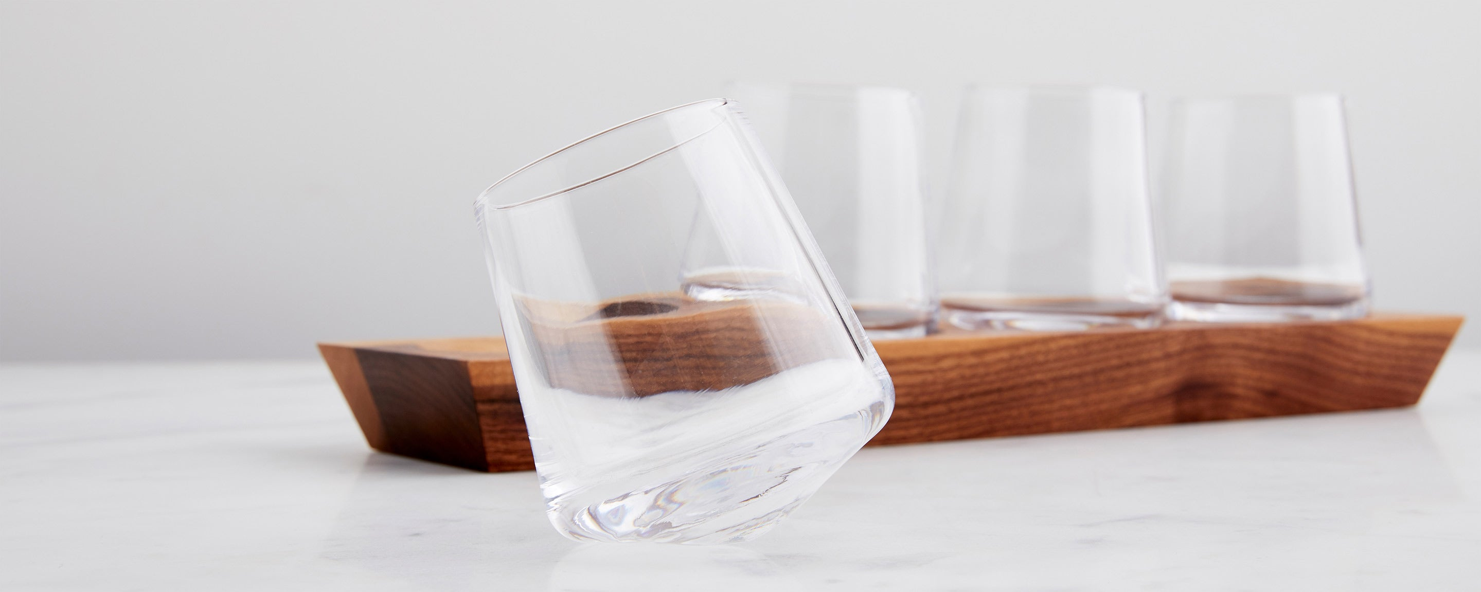 ludlow whiskey glass set by simon pearce