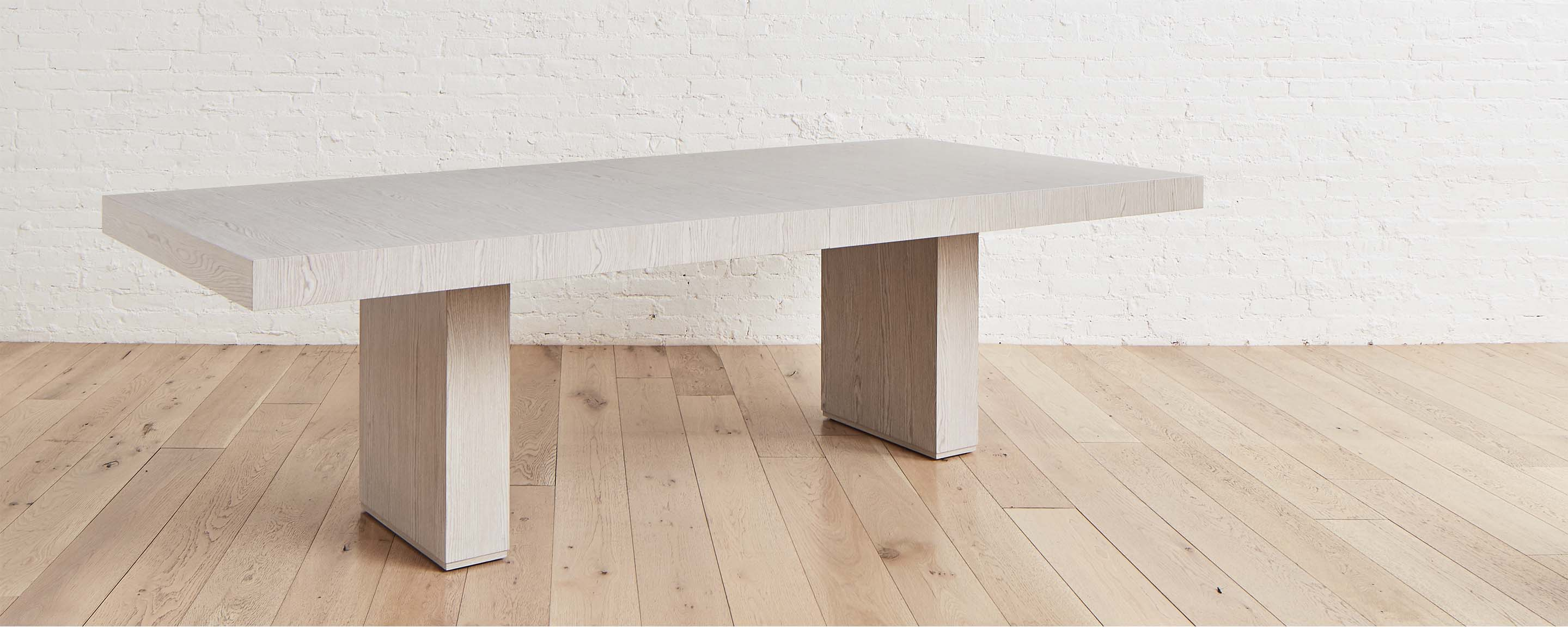 the homenature further lane dining table in white oak