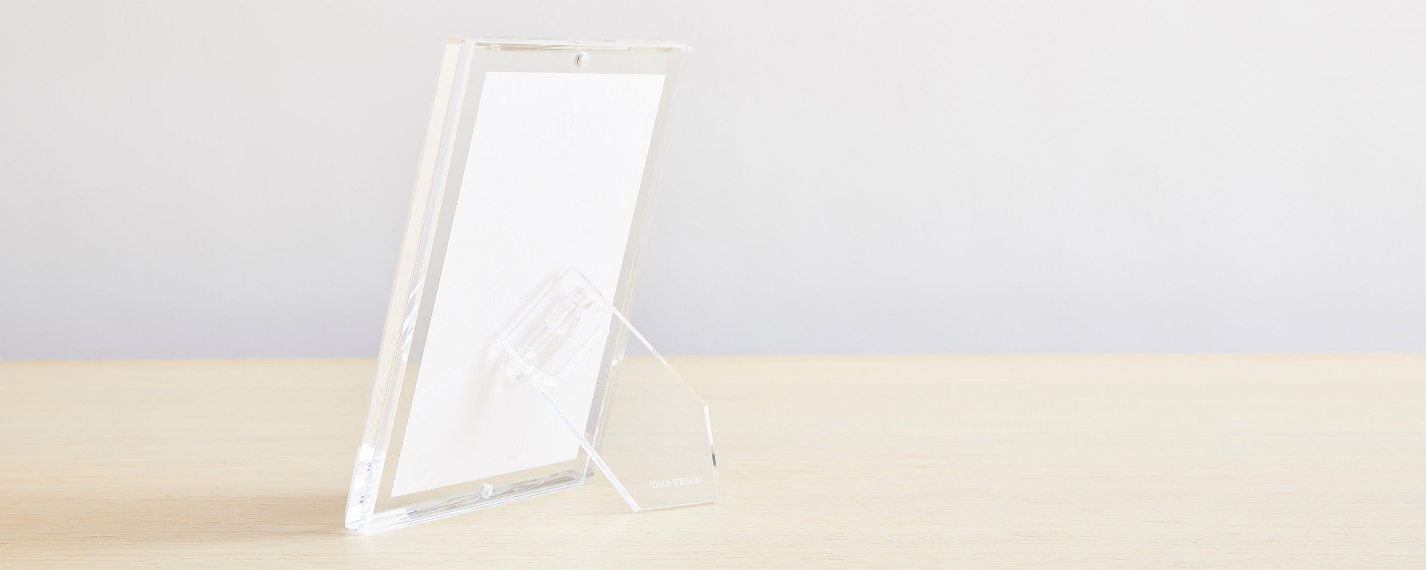 beveled lucite picture frames
