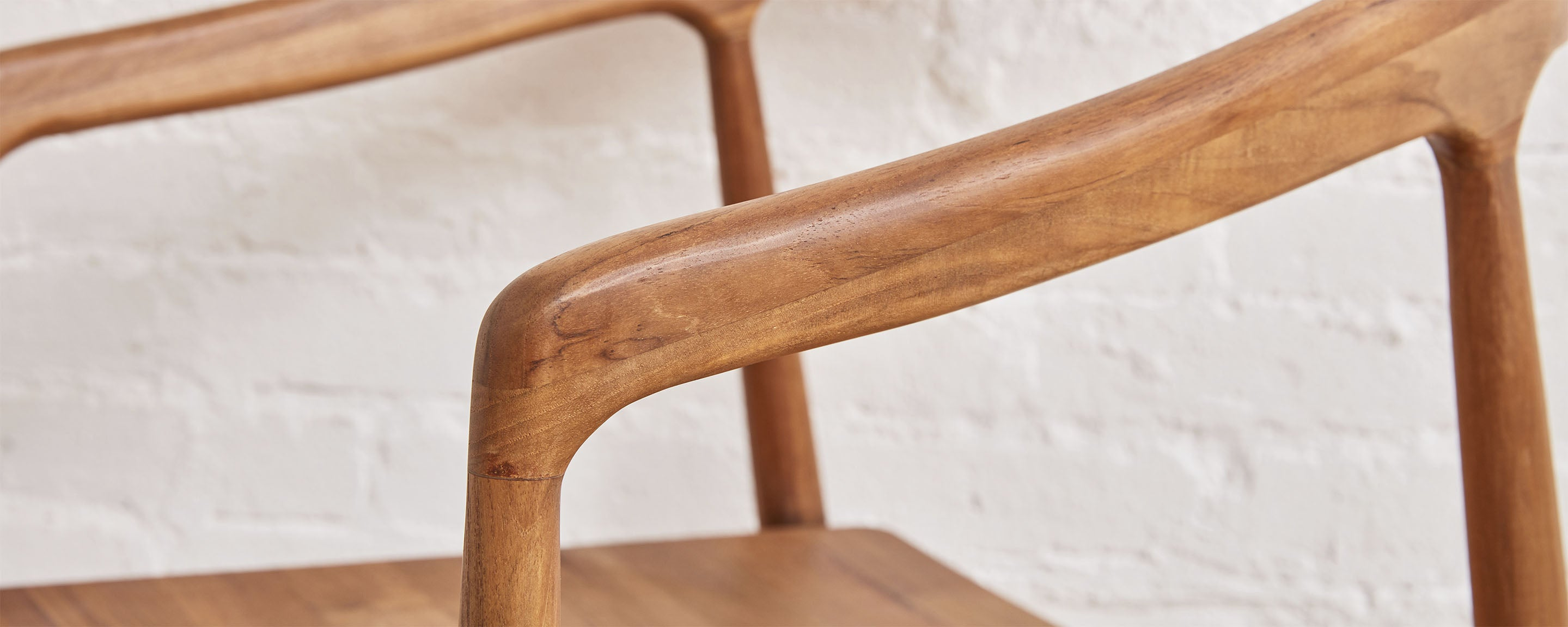 teak dining chair with arm