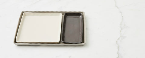 stoneware tray collection