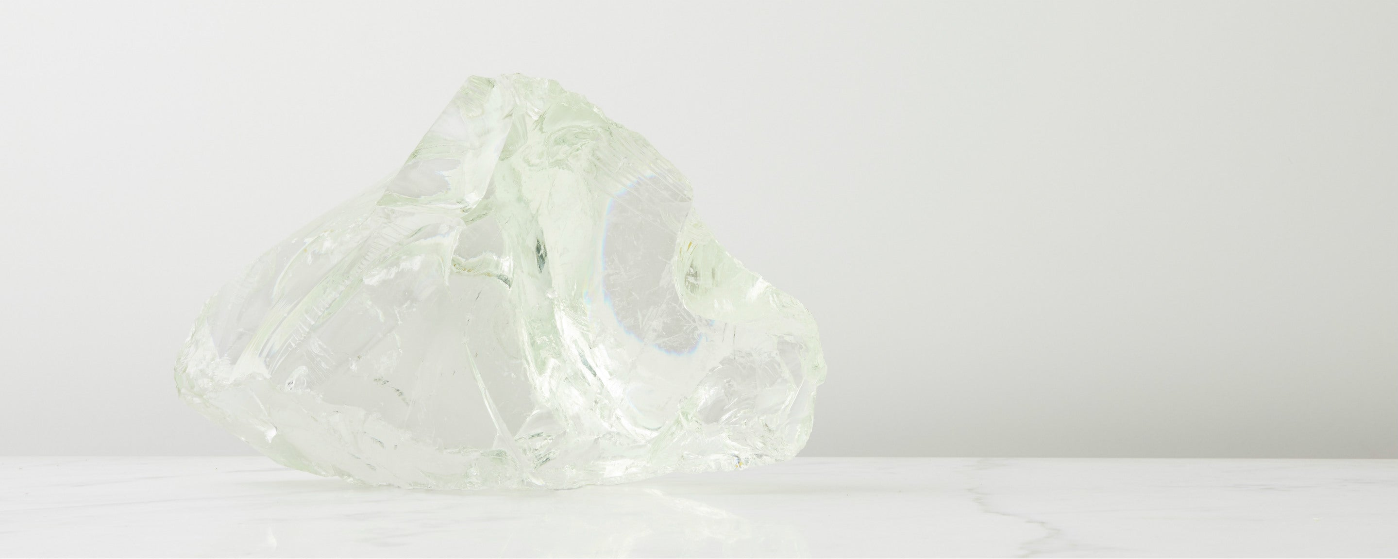 white glass crystal sculpture
