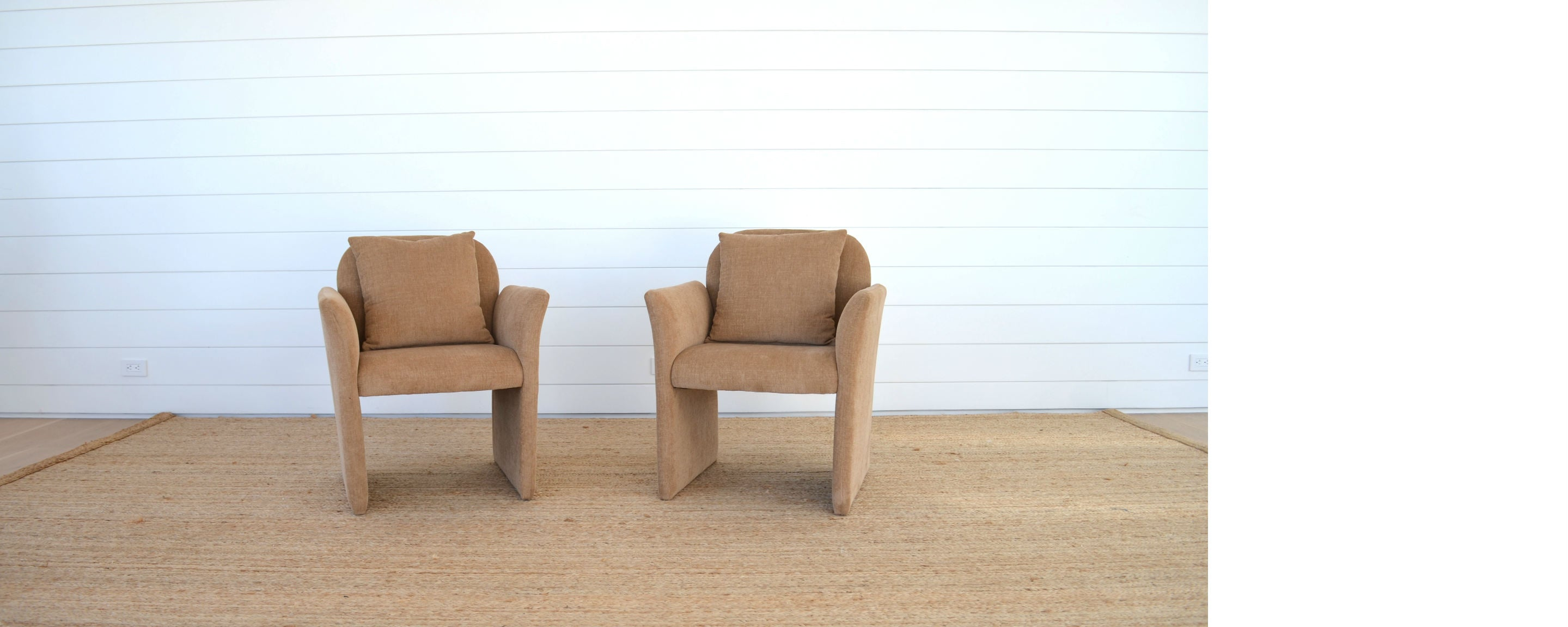 vintage pair of 80s carson chairs