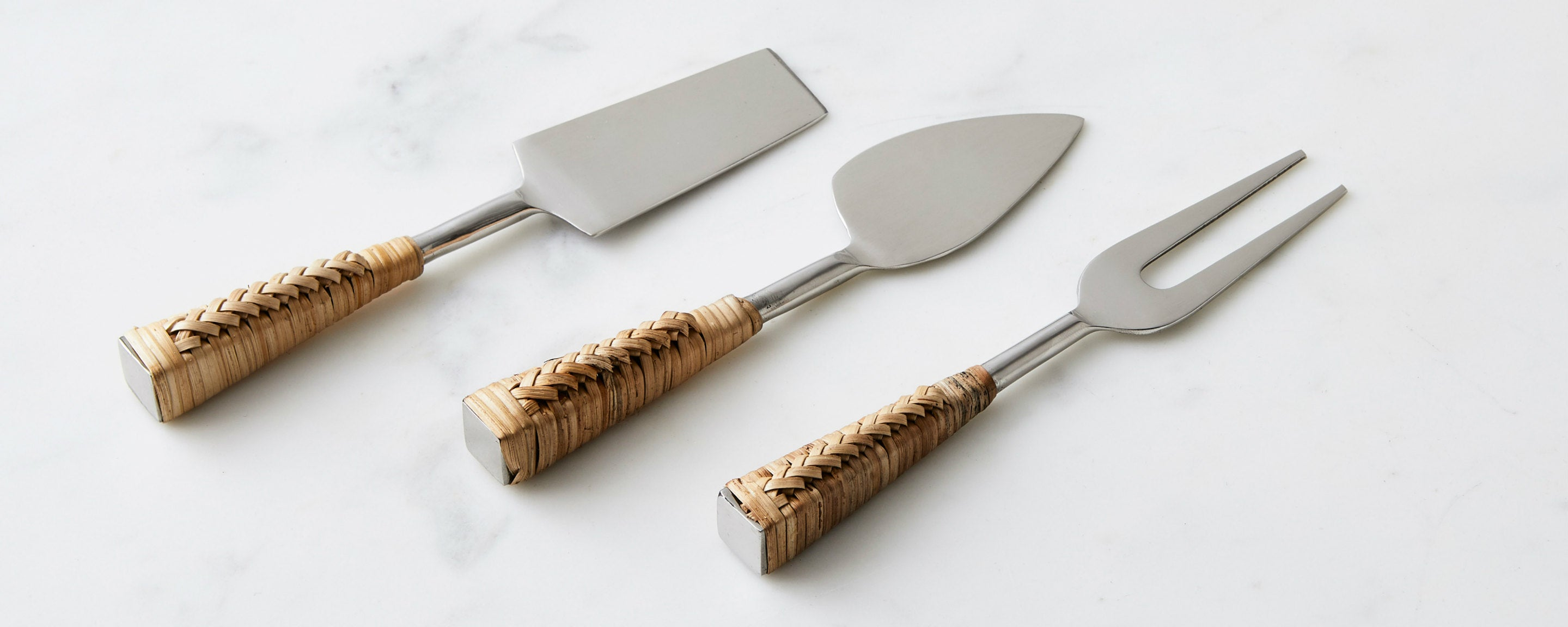 rattan handle cheese knives