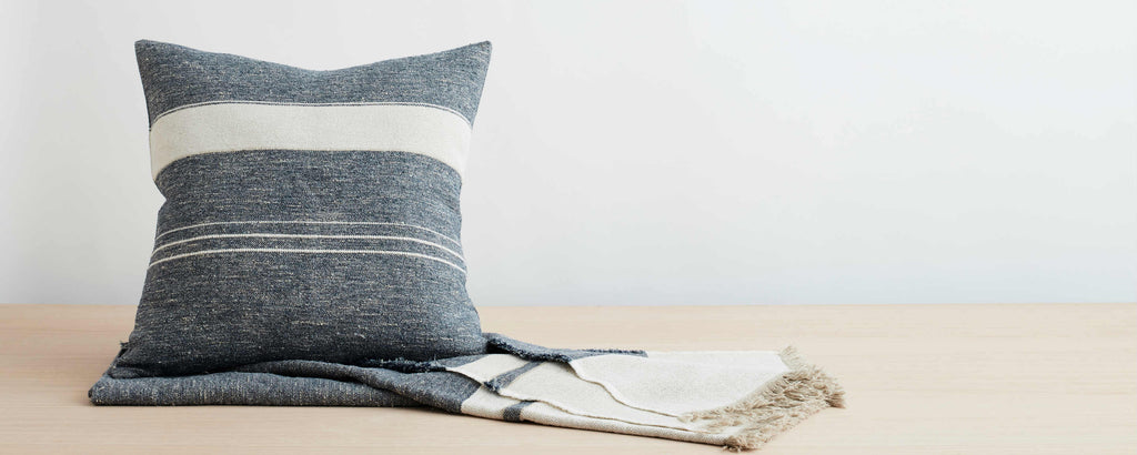 north sea stripe pillow collection