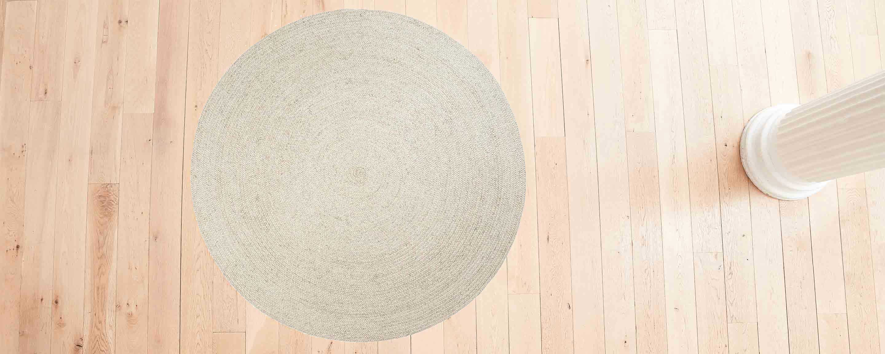 braided weave chalk rug, made to measure (per sq ft price)