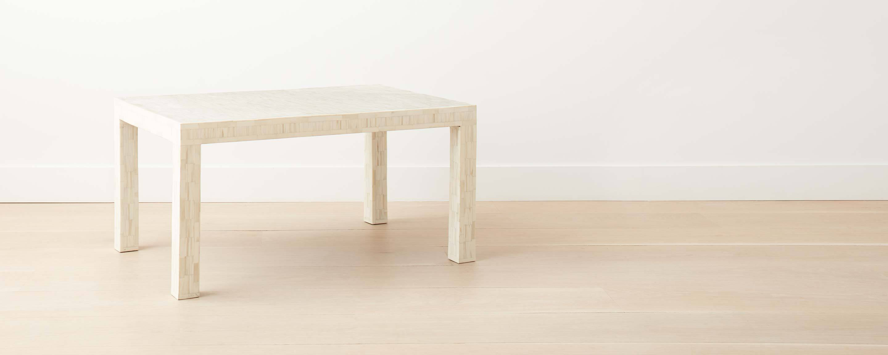 the bone parsons rectangular coffee table