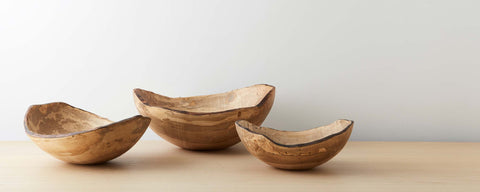 spalted wood oval bowls