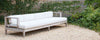 sapele wood straight outdoor sofa