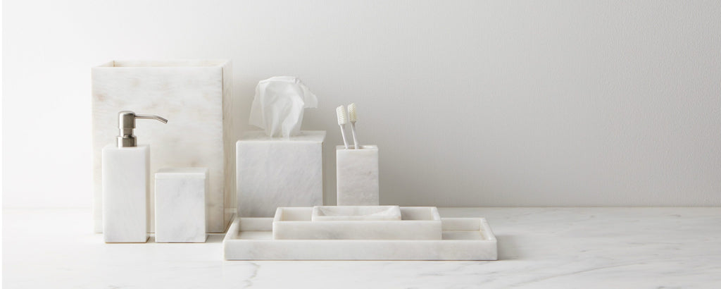 white marble bath collection