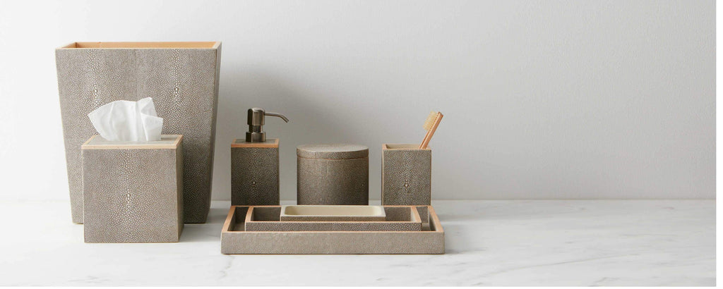 faux shagreen sand bath collection