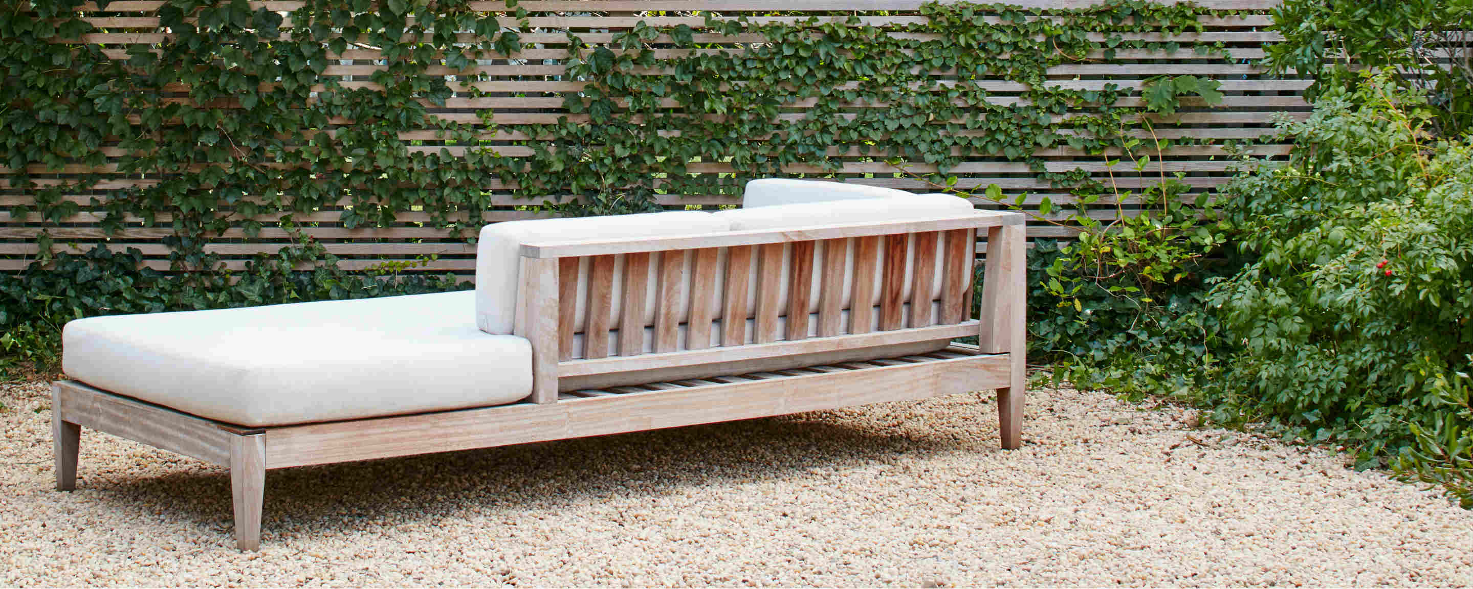 sapele wood outdoor sectional sofa