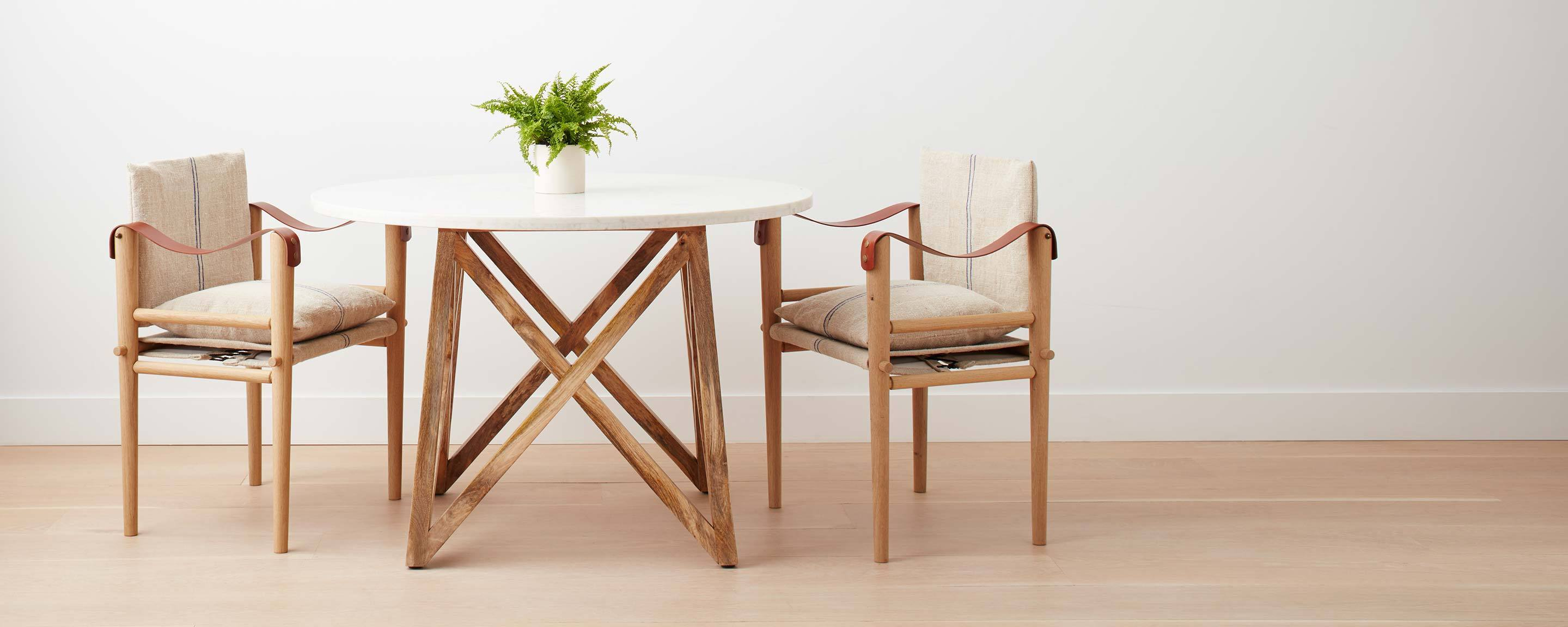 the montauk dining chair in linen