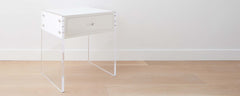homenature dune lucite and lacquer end table, 20""
