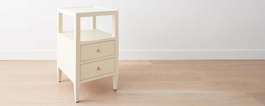 faux belgian linen square nightstand