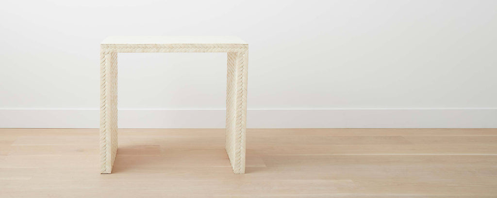 the braided bone end table